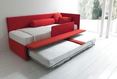 Line by bolzan divano letto con secondo letto estraibile letto contenitore - Divano letto singolo con contenitore ...