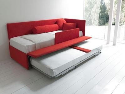 Line by bolzan divano letto con secondo letto estraibile letto contenitore - Divano letto con cassettone ...