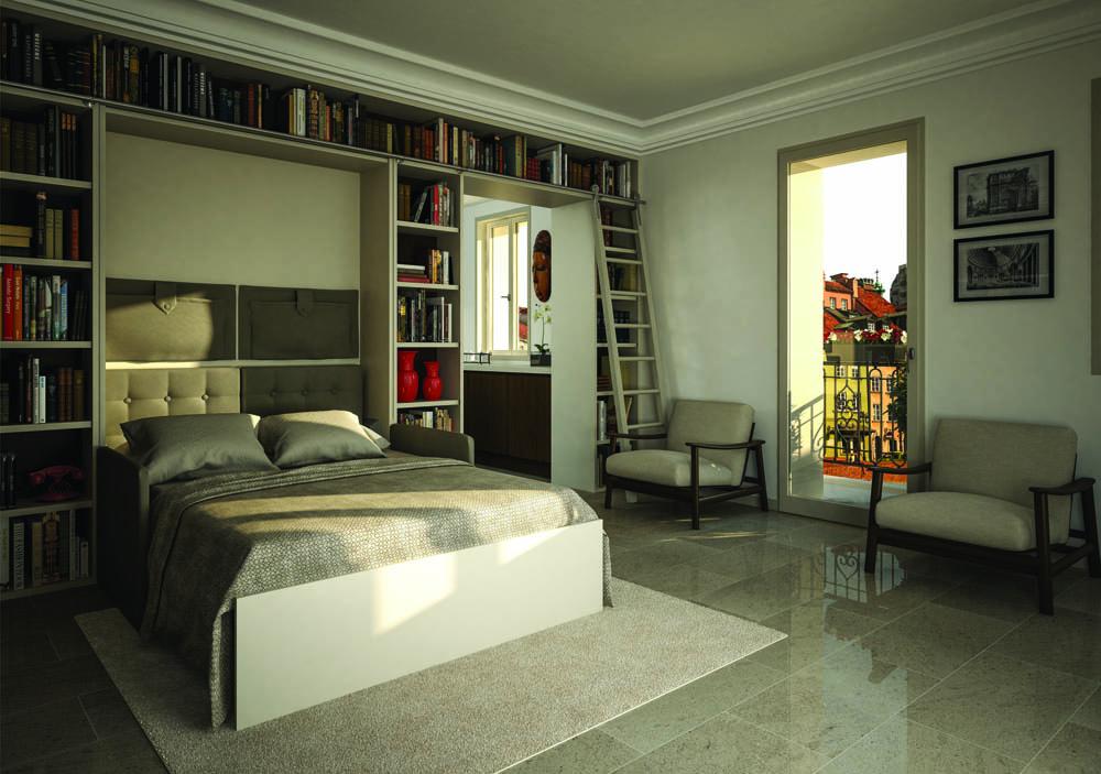 Libreria Letto Matrimoniale : Letti a scomparsa arredi per monolocale o case di vacanza letto