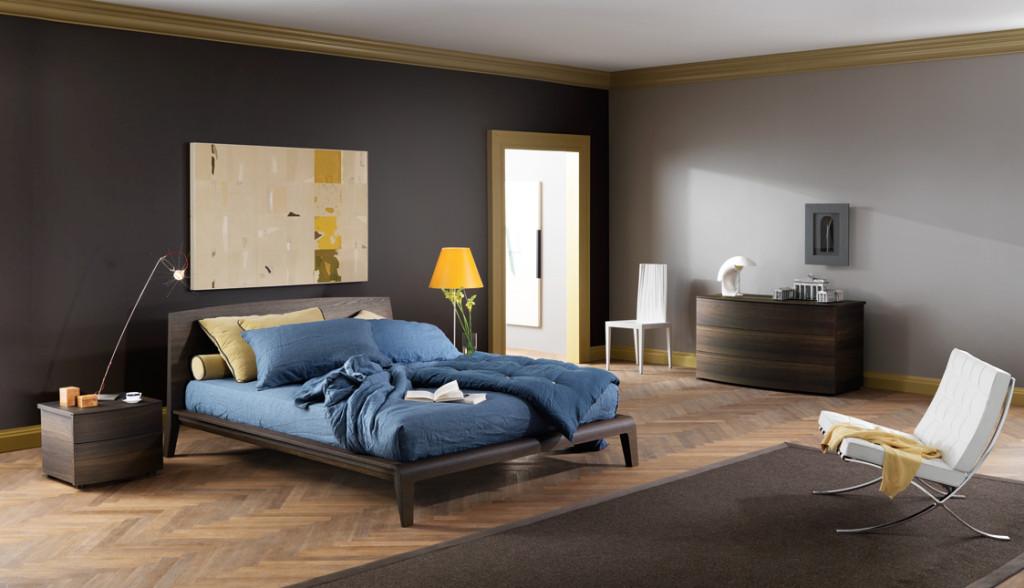 letto Cloe  in legno disponibile nelle diverse finiture del Rovere