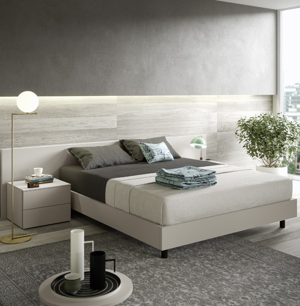 letto contenitore bianco