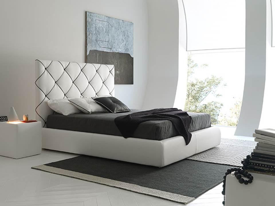 Dubai il letto in pelle di Bolzan letti