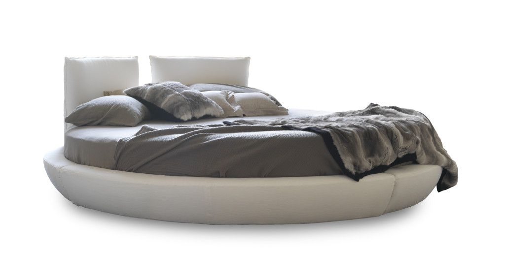Letto bianco rotondo