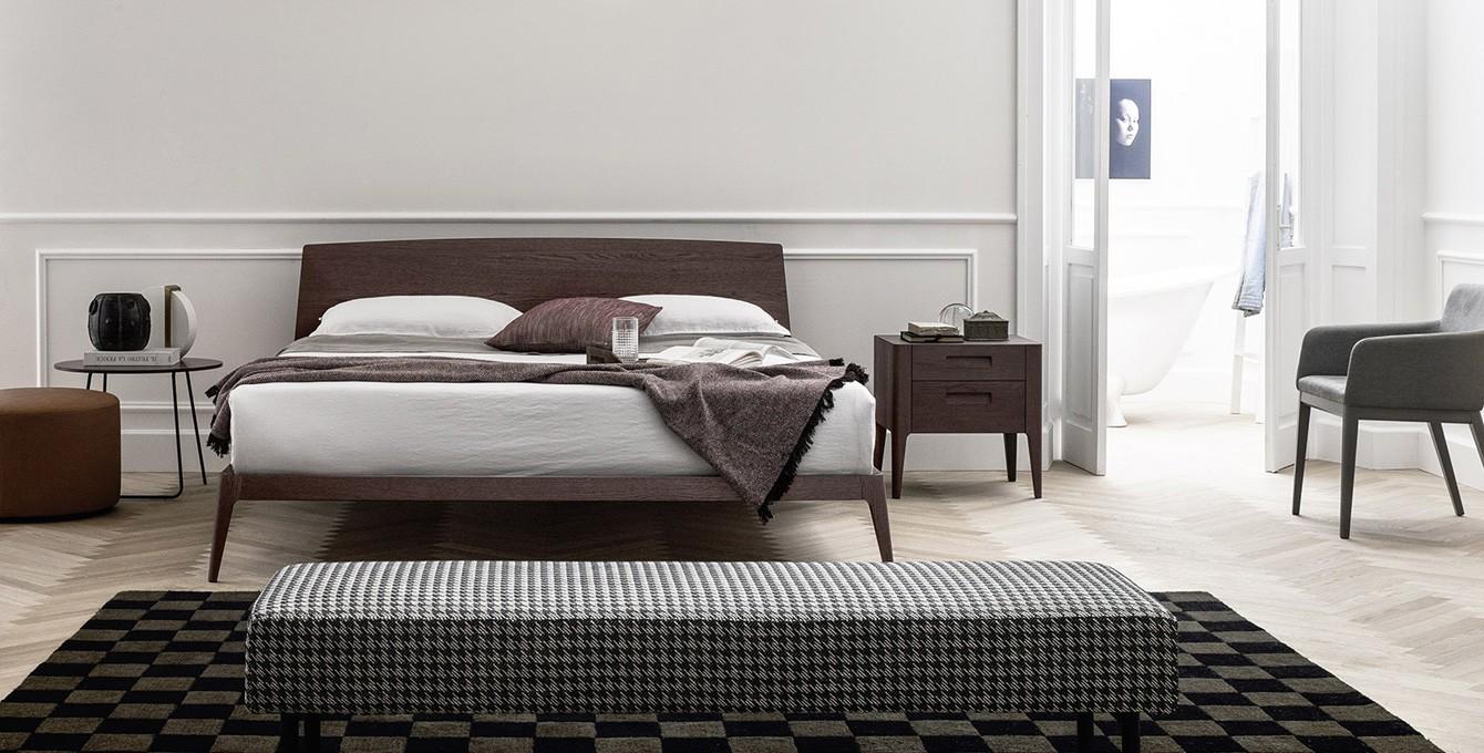 Letto contenitore letti con contenitore salvaspazio per riporre piumoni coperte - Camera da letto rovere ...